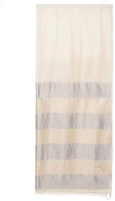 Agnona Color Block Silk Blend Scarf