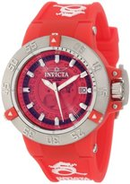Invicta Women's 10110 Subaqua Noma III Red Dial Red Silicone Watch