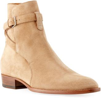 Saint Laurent Men's Wyatt Jodhpur Suede Ankle Boots