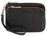 Merona Women's Faux Leather Zip Wristlet Pouch