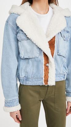 Free People Perry Hooded Denim Jacket