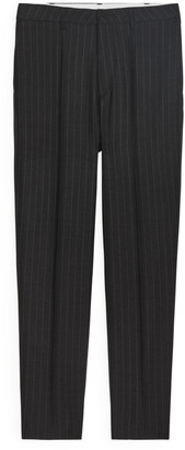 Arket Regular Trousers Pinstripe Wool