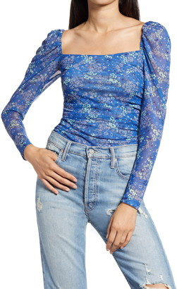 Socialite Square Neck Mesh Top