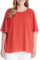 Karen Kane Plus Short Sleeve Solid Top