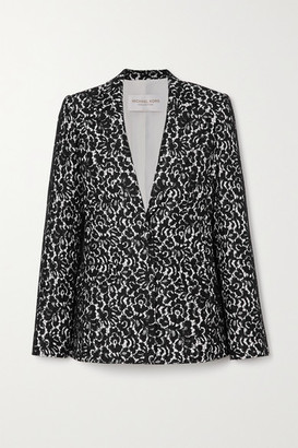 Michael Kors Lace And Crepe Blazer - Black
