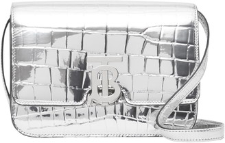 Burberry Small TB Metallic Embossed Bag