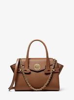 Michael Kors Carmen Small Saffiano Leather Belted Satchel