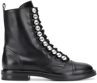 Casadei crystal-embellished boots