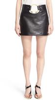 Anthony Vaccarello Leather Miniskirt