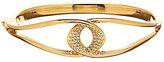 Nadri Domani Pave Twist Bangle Bracelet