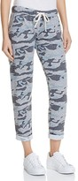 Monrow Camo Print Slim Sweatpants