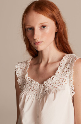 Rebecca Taylor La Vie Lisette Eyelet Sleeveless Top