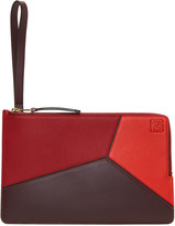 Loewe Red Flat Puzzle Pouch