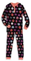 Petit Lem Toddler's & Little Girl's Two-Piece Printed Henley Top and Pants Set