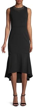 Calvin Klein Embellished Midi Trumpet Dress