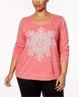 Style&Co. Style & Co Plus Size Embellished Graphic Sweatshirt, Created for Macy's