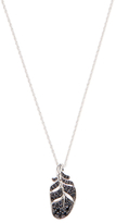 John Hardy Black Spinel & Sapphire Classic Feather Silver Lava Pendant Necklace