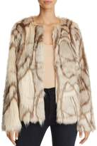 Freeway Marbled Faux Fur Jacket