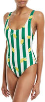 Solid and Striped The Anne-Marie Striped Lemons One-Piece Swimsuit