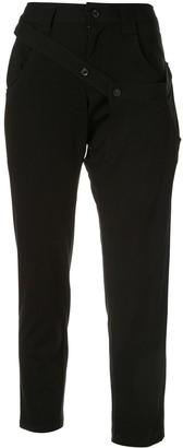 Yohji Yamamoto Cropped Slim Fit Trousers