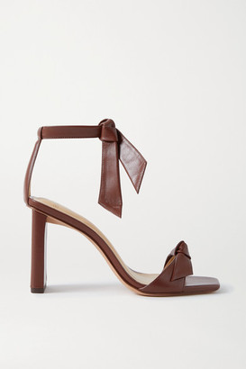 Alexandre Birman Clarita Bow-embellished Leather Sandals - Burgundy