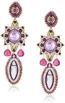 Miguel Ases Large Rainbow Hydro-Quartz and Tourmaline Quartz Marquise Celestial Star Drop Earrings