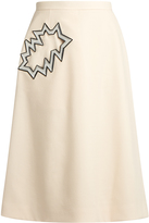 Christopher Kane Smash-pocket crepe midi skirt