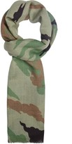 MHI Bonsai Forest Camouflage-print Cashmere Blend Scarf