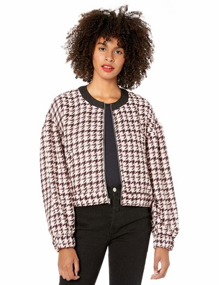BCBGeneration Women's Contrast Tipping Woven Bomber Jacket