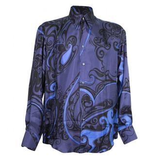 Versace Blue Silk Shirts