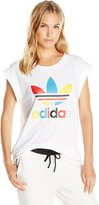 adidas Women's Originals Boyfriend Roll Up Tee