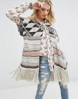 Denim & Supply By Ralph Lauren Kimono Coatigan With Fringing