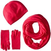 Sofia Cashmere Women's Three-Piece Set with Hat, Smartphone Gloves, and Infinity Scarf