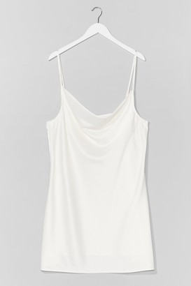 Nasty Gal Womens Sought After Cowl Plus Mini Dress - White