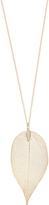Accessorize Dipped Leaf Long Pendant Necklace