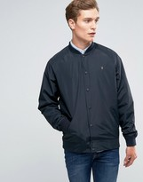 Farah Bomber Jacket In Black Nylon