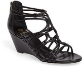 Isola Women's Floral Strappy Wedge Sandal
