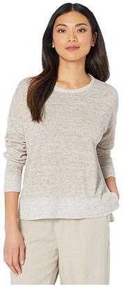 Eileen Fisher Round Neck Box-Top (Bramble) Women's Sweater