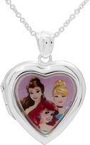 Disney Princesses Girls Heart Locket Pendant Necklace