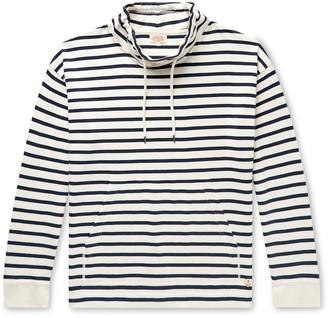 Armor Lux Striped Mock-Neck Cotton-Jersey Sweatshirt