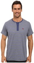 U.S. Polo Assn. Short Sleeve Candy Stipe Henley Knit Shirt