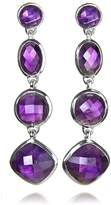 Sikara & Co. Geometric Amethyst Earrings