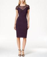 Calvin Klein Petite Cap-Sleeve Banded Sheath Dress