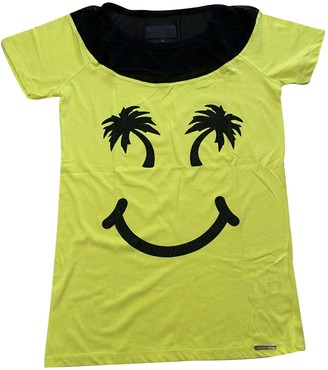 Philipp Plein Yellow Cotton Tops