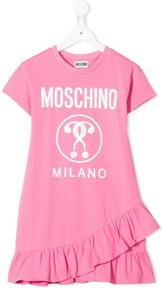 MOSCHINO BAMBINO frill hem T-shirt dress