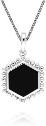 Gemondo Black Onyx Slice Pendant In Sterling Silver