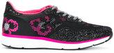 Hogan floral glitter-effect sneakers - women - Leather/Nylon/PVC/rubber - 36