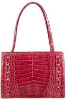 Nancy Gonzalez Studded Crocodile Shoulder Bag