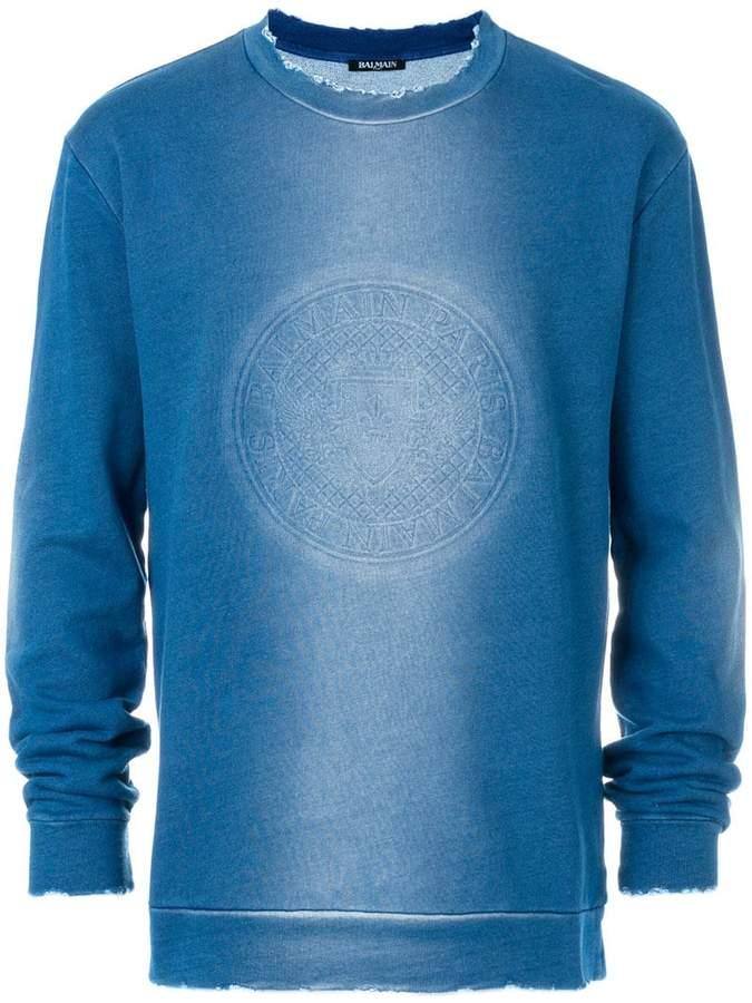 Balmain faded logo sweatshirt