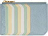 Miu Miu Blue Multi Card Zip Pouch